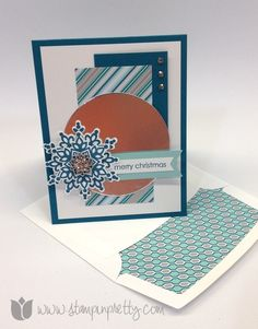 Stampin up mary fish stamp it pretty order holiday festive flurry framelits die christmas card idea