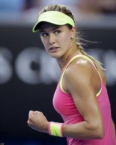 Tennis star Eugenie Bouchard asked to 'twirl' at Australian Open #dailymail