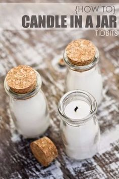 Cheap Crafts To Make and Sell - Jar Candles - Inexpensive Ideas for DIY Craft Projects You Can Make and Sell On Etsy, at Craft Fairs,…