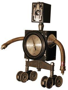 Robot Steampunk Clock