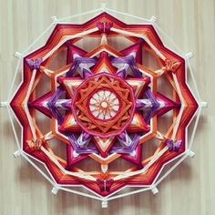 Mandala Ojo de Dios  Spring  par BeHappyMandalaShop sur Etsy