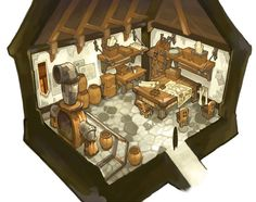Mechanical House Interior - Characters & Art - Lime Odyssey: The Chronicles of Orta