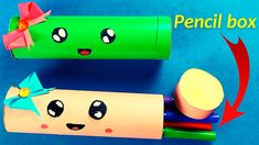 How to make a paper pencil box easy|