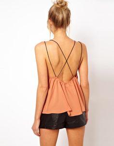 ASOS peach cami with skinny straps
