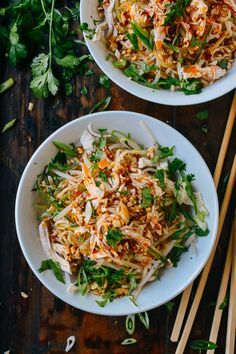 Cold Noodles with Shredded Chicken, by http://thewoksoflife.com