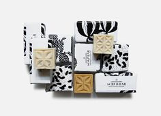 Scrub Bar | Designed by Spread Studio   Design of packaging for sustainable handmade soap bars illustrating the natural ingredients and artisan production.