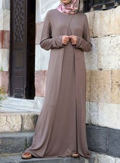 Durriya Abaya Save 39% Almond color  Lightweight and breezy, made from a rayon jersey, this simple abaya has the kind of flow you're looking for this season. Great for formal and informal occasions, get it in more than one color!