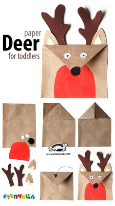 A paper deer for toddlers