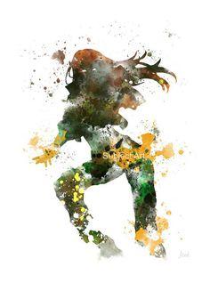 Rogue, X-Men arte grabado Ilustración, superhéroe, decoración casera, arte de la pared, Vengadores, Marvel