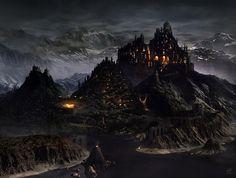 Fantasy setting - castle at night