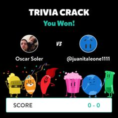 Oscar Soler just won a game against @juanitaleone1111 in Trivia Crack!