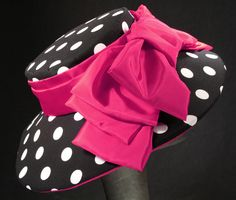 The Chelsea Der60-026 polka dot KY Derby hat by MAGGIE MAE DESIGNS®