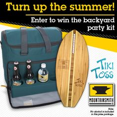 Free entry to win a Mountainsmith Cooler Cube(http://bit.ly/1pR2Jas) and a Tiki Toss(http://bit.ly/1r8c4OI). Win this gear and turn up the party this summer!