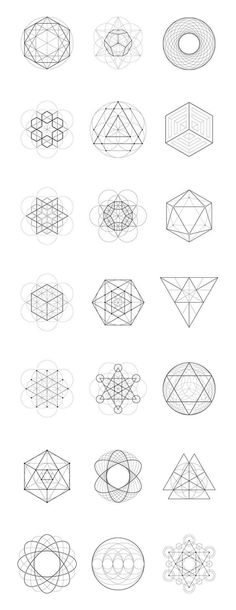 Sacred Geometry: 40 Items by kloroform on Creative Market: