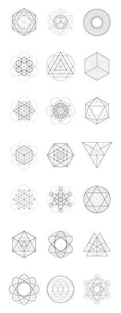 Sacred Geometry: 40 Items by kloroform on Creative Market: