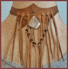 golden leather neck corset by aboriginalsbykate at Zibbet and Etsy