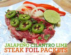 JALAPEÑO CILANTRO LIME STEAK FOIL PACKETS