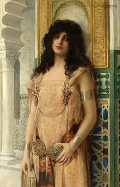 Harem girl.  Did any escape, or were they killed when no longer lusted after?  Leon Francois Comeree