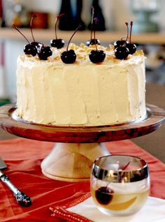 Whisky Old Fashioned Chocolate Cake w/ Whisky Buttercream Frosting