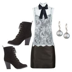 """""""Lace Sleeveless Blouse"""" by sillycatgrl ❤ liked on Polyvore featuring River Island, Philosophy di Lorenzo Serafini, Majorica and Charlotte Russe"""