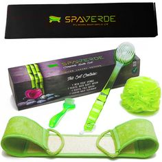 Body Brush For Bath U0026 Shower   Face Brush   Exfoliating Loofah Back  Scrubber   Complete