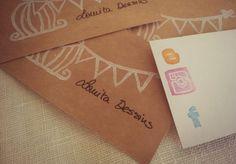 Tarjetas craft hechas a mano!!