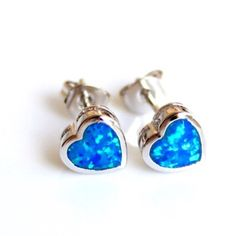 BOGO 50%925 Sterling Blue Opal Stud Earring •Beautiful Blue Opal Stud Earring, This jewelry is crafted of platinum over sterling silver in a polished finish•                                                                        •Solid .925 Sterling silver                                       •Excellent Quality Handmade in Taxco Mexico•  ✨last pair✨  This earring is sure to be a special gift to be enjoyed! Packaged in a lovely Bag! Jewelry Earrings