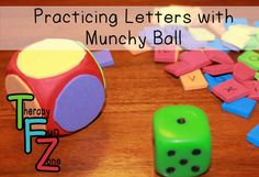 Therapy Fun Zone: Fine Motor and Letters With Munchy Ball! Pinned by SOS Inc. Resources. Follow all our boards at pinterest.com/sostherapy/ for therapy resources.