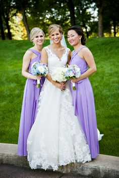 A beautiful bridal party in pretty pastels. Photo by Lauren B Photography.