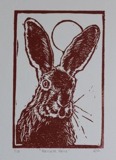 Buy Harvest Hare, Linocut by Ruth Archer on Artfinder. Discover thousands of other original paintings, prints, sculptures and photography from independent artists.