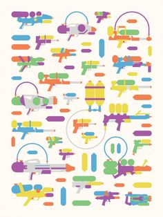 """""""Air vs. Water"""" – Nerf and Super Soaker-Inspired Art Prints"""