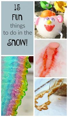 Ridiculously fun things to do in the snow for kids! These are great winter activities for preschoolers. Love the science and art aspects too!
