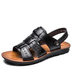 Be effective with this product England S Cow Lea... and stop doubting yourself, see it on Costbuys http://www.costbuys.com/products/england-s-cow-leather-men-sandals-black-brown-hand-sewing-men-summer-shoes-breathable-beach-shoes-summer-men-shoes?utm_campaign=social_autopilot&utm_source=pin&utm_medium=pin