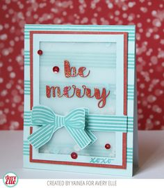 Yainea for Avery Elle Supplies: Beautiful Bow Clear Stamps Holly Jolly Dies