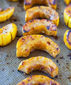 Roasted Cinnamon-Ginger Delicata Squash. Sweeter, creamier, & much easier to hack into than a butternut (vegan, GF)