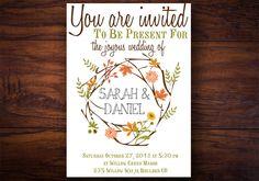 Wedding Invitation Autumnal Bliss  Bohemian by WrittenInDetail