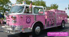 The Pink Firetruck has signatures from women all over! Pink Truck, Fire Apparatus, Down South, Emergency Vehicles, Fire Engine, Pink Love, Fire Trucks, Breast Cancer Awareness, Never Give Up