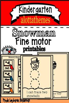 This activity would be a fun activity to add to your winter unit.  Lots of fine motor skills being developed with this product!!! All students LOVE to draw and these are a great fast-finisher or center to engage your students quietly.I know my kids enjoyed them!!  #snowman #winter #fine motor Alphabet Activities, Group Activities, Morning Work, Learning Through Play, Teaching Kindergarten, Math Skills, Motivate Yourself, Fine Motor Skills, Snowman