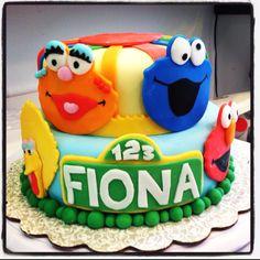 Sesame street 1st birthday cake for Fiona :)    $125.00