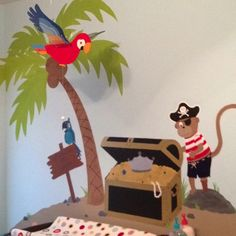 Hunter's Pirate Mural., above  the changing table.