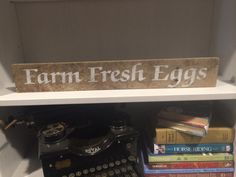 Farm Fresh Eggs pallet wood sign