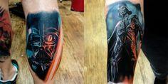 Darth vader tattoos by Aaron Lyons, star wars