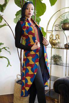 African Dashiki, African Fashion Ankara, African Print Dresses, African Print Fashion, African Dress, African Prints, Mode Wax, Nigerian Outfits, Ankara Jackets
