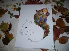 Squirell out of leaves diy