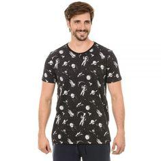 """Camiseta Estampada Masculina. Macho Moda - Blog de Moda Masculina: bypride apresenta sua Nova Coleção """"Back to 50's"""" + Review das Peças, Camiseta Estampa Astronauta Masculina"""
