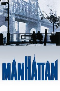 This is one of my favorite movie posters because the graphics are so simple, yet it perfectly conveys the style and the tone of the film. The shot of Diane Keaton and Woody Allen sitting on a bench at dawn in the shadow of the Queensboro Bridge is one of the most enduring and iconic shots in film history.