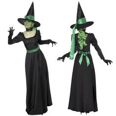 Smiffy's #womens wicked witch #fantasy #halloween fancy dress costume with hat,  View more on the LINK: http://www.zeppy.io/product/gb/2/322256609770/