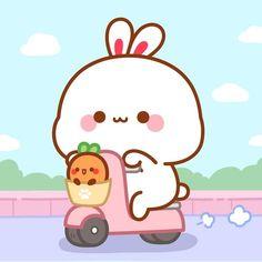 Cute Bunny Cartoon, Cute Kawaii Animals, Cute Cartoon Pictures, Cute Pictures, Kawaii Doodles, Cute Doodles, Cute Kawaii Drawings, Chibi Cat, Cute Chibi