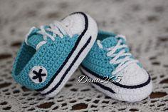 Crochet uncinetto converse allstar babyboots sapatillos scarpine scarpette baby bimbo fatto a mano handmade madeinitaly
