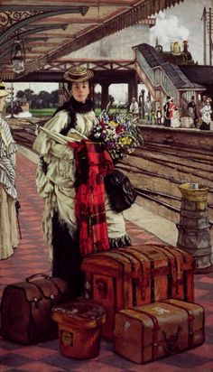 Waiting at the Station, Willesden Junction, c.1874 by James Tissot (French 1836–1902)